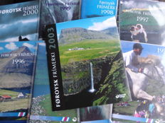 Faroe Islands 1993/2000 and 2003 – Nine books with stamps