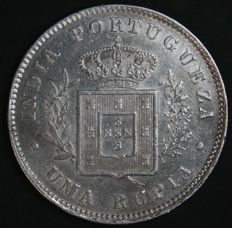 Portugal – 1 Rupia in Silver – Luís I – 1881- Portuguese India