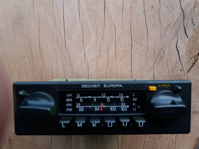 Becker Europa car radio - type 598 - 1970s