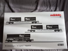 """Marklin H0 - 47081 - Set with container wagons """"Vos Logistics"""""""