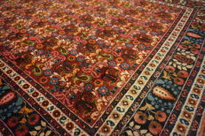 Antique hand-knotted Persian carpet, Meshed Bote pattern with patina, 201 x 331 cm