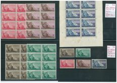 San Marino – 1948 – work series, block of eight and single series