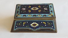 Champlevé enamel Box, France, 20th century