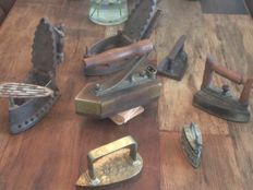 Lot of 7 old irons from the 1800s/1900s