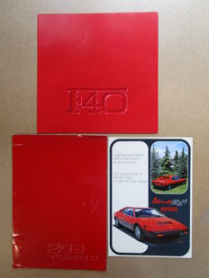 Ferrari - Lot of 3 original catalogues for models F40, 308gt4, 208 turbo 1982/1987