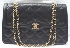 Chanel - Diamond Quilted CC Turnlock 2.55 Double Flap - Paris Limited Edition Bag