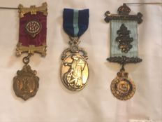 Collection of 3 very nice Masonic medals