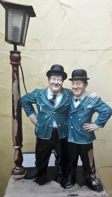 Old Laurel & Hardy lamp, second half of the 20th century, East-Germany