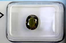 Greenish Brown Sapphire – 1.77 ct