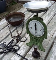 Two decorative scales