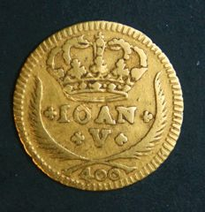 Portugal – Pinto in Gold – 1728 – D. João V – Lisbon – Above Average