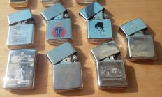 14 original zippos in very good condition collection