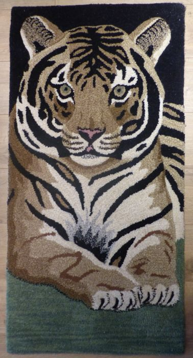 Rug in pure wool tufted by hand: Tiger - 20th century, new rug, origin India