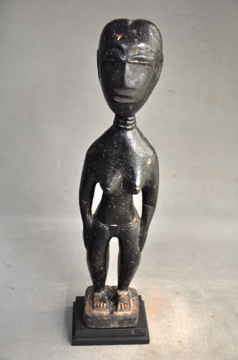 Old tribal female ancestor figure-ASHANTI-Ghana