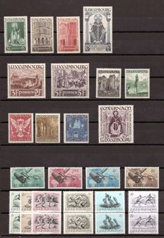 Luxembourg 1938/1985 – Set with complete series – 300/5, 392/7, 425/8, 455/60 pair, 461/4, air mail 16/20 Yvert