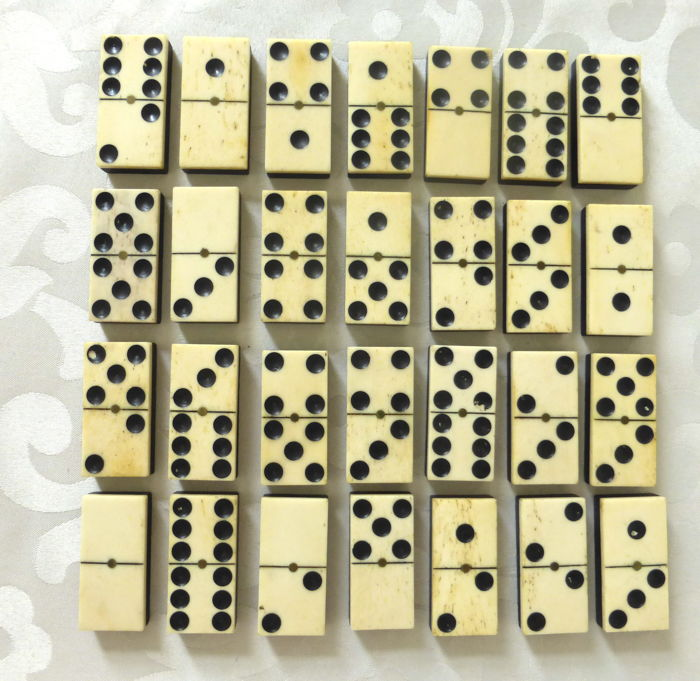 Professional dominoes, ca. 1900