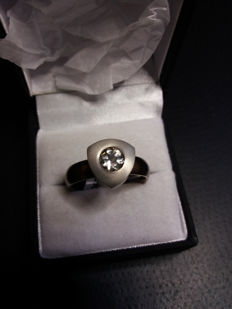 An Unusual Genuine American Serenite Mens Titanium Ring