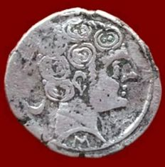 Spain - Denarius of Secobirices, Saelices (Cuenca) - 18 mm / 3.4 g