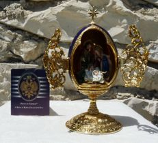 "House of Fabergé - ""A King is Born"" - egg Collector - Enamel- Swarovski rhinestones - gold plated 24 k - numbered"