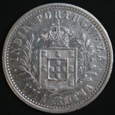 Portugal – 1 Rupia in Silver – Carlos I – 1904 – Portuguese India – Uncirculated
