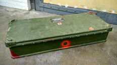 Military roof box of a Land Rover
