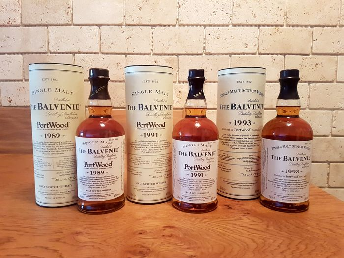3 bottles - Balvenie 1989, 1991, 1993 port wood