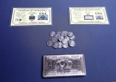 Precious and rare metal bars and rounds