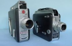 2 Kodak film cameras from 1940 and 1950 with spring drive