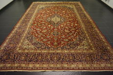 *Dreamily beautiful Persian palace carpet *Kashan *top quality cork wool *clean *very good condition *made in Iran *245 x 351 cm