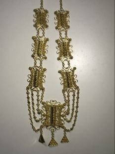 Straits Chinese gold-plated necklace