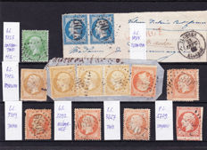France 1862/1900s – Collection with many foreign stamps on stock cards
