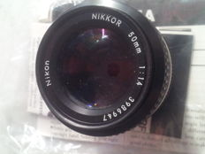 Nikon 50mm F1:1.4 lens from 1980