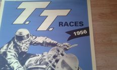 Nostalgic Poster - T.T. Races June 1956 - Isle of Man