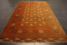 Beautiful Afghan Partina Art Deco oriental carpet wool on wool Afghanistan 130 x 175 cm