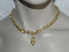 Vintage TRIFARI collier  gold-plated 51cm