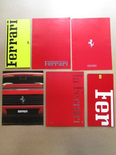 Ferrari - Lot of 6 original catalogues for the models 348, Mondial T, F40, 512, F1, 456GT, GT turbo, 328, testarossa, 412, 355, 456, 550, 1988/1989/1990/1991/1993/1998