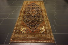 Old high-value Persian carpet - Malay Bidjar - runner - made in Iran - 115 x 250 cm