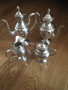 Empire tea/coffee set in silver 800/000, Calegaro, 1960s