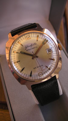 GUB - GLASHÜTTE SPEZIMATIC - Made in GDR - men's wristwatch vintage - 1960's - 26 Jewels - unique collectible status