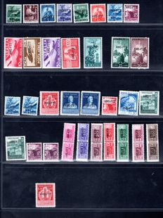 Italy Triest Zone A  1947 till 1949 - Collection lot of series/sets completed