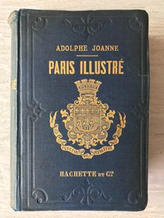 Lot of 2 very old tourist guides on Paris - 1883