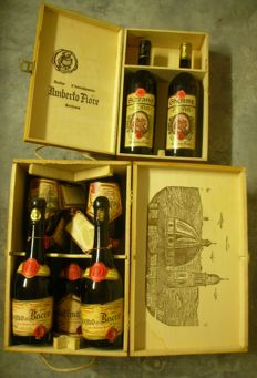 1967 Sizzano and Ghemme & 1961 and 1973 Gattinara & 1958 Sogno di Bacco - Umberto Fiore - 7 bottles in their original 2 wooden boxes