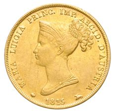 Duchy of Parma – 40 lire 1815 Marie Louise of Austria – gold