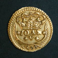 Portugal – Pinto in Gold – 1736 – D. João V – Lisbon – Above Average