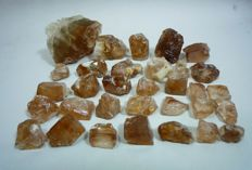 Champagne Color Topaz Crystals Lot Rough - 300gm