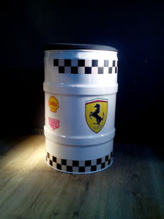 Barrel / Seat - Chair 1000 Miglia with among others Ferrari - Pirelli - Shell / Metal