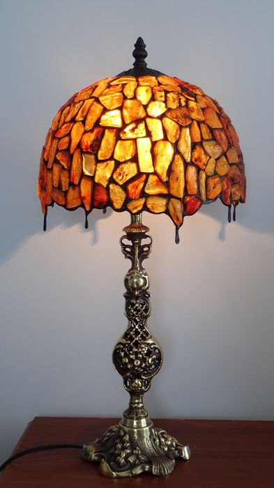 Amber (fossilized resin) Baltic Amber - A&S Amber Artist of Poland - Amber Lamp - 52×25.5×52 cm - 2600 g