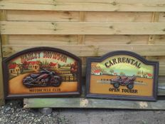 Lot of two 3D wooden Pub signs.