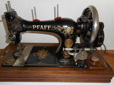 PFAFF sewing machine with a wooden case