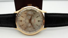 Hever Ferrotex 18 kt Gold Chronograph — 37.5 mm — Hand-wound — 1960s — Men's